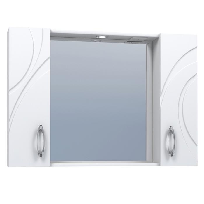 Зеркальный шкаф Vigo Mirella 100 с подсветкой Белый зеркальный шкаф vigo mirella 80 с подсветкой белый