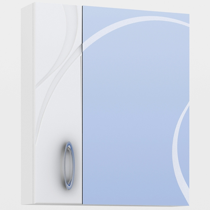 Зеркальный шкаф Vigo Mirella 60 Белый пенал vigo mirella п11 белый