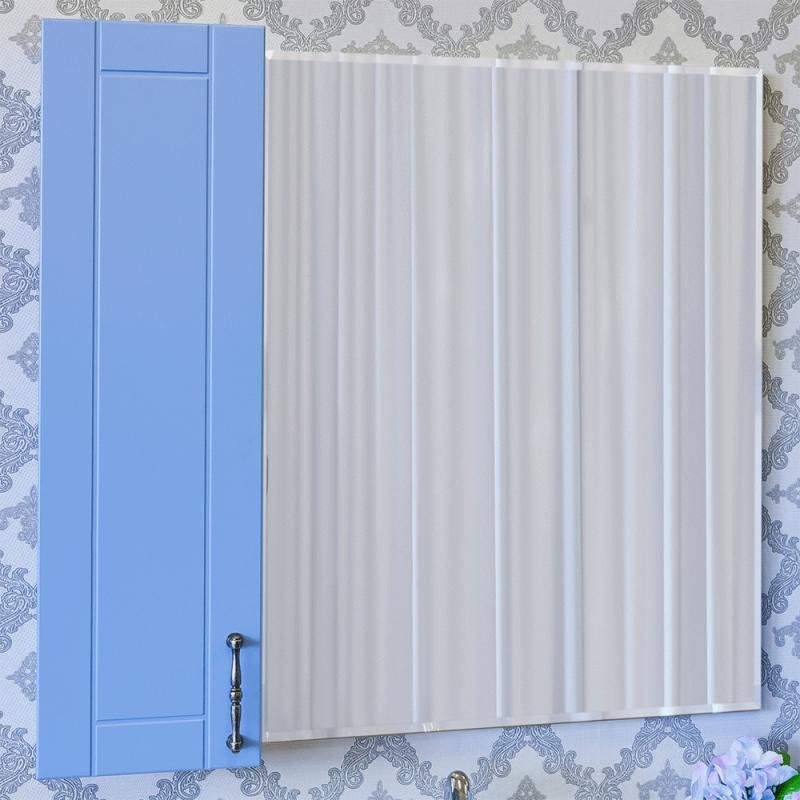 Зеркало со шкафом Sanflor Глория 65 L С000005828 Голубое зеркало шкаф sanflor глория 105 голубой c000005703