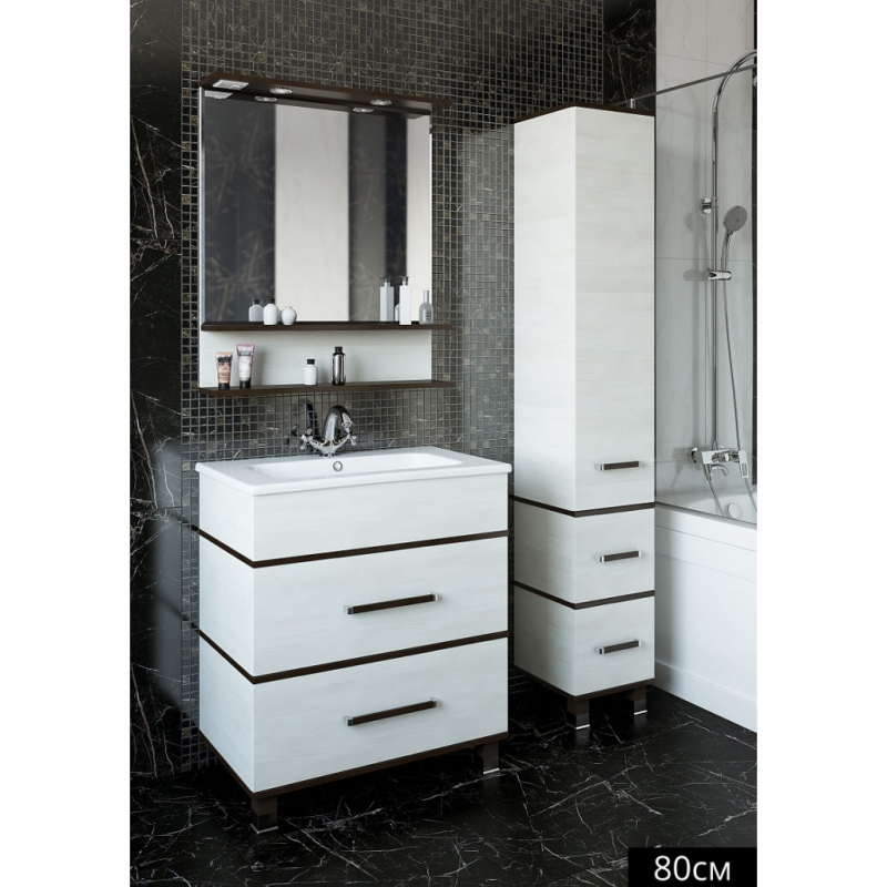Зеркало Sanflor Турин 80 С0000002137 Венге Орегон