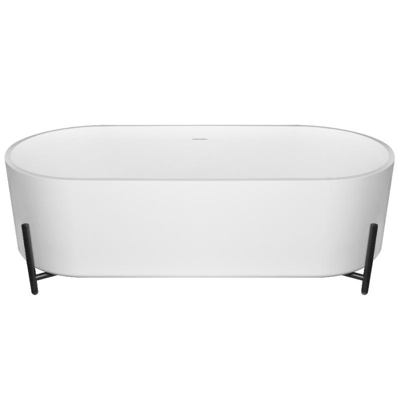 Ванна из искусственного камня NT Bathroom NT303 160х70 без гидромассажа ванна из искусственного камня nt bathroom nt305 165х80 без гидромассажа