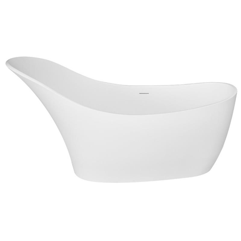 Ванна из искусственного камня NT Bathroom NT302 167х74 без гидромассажа ванна из искусственного камня nt bathroom nt305 165х80 без гидромассажа