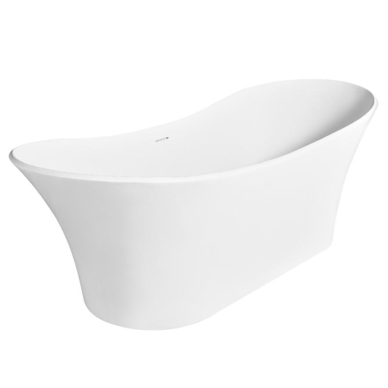 Ванна из искусственного камня NT Bathroom NT301 179х80 без гидромассажа ванна из искусственного камня nt bathroom nt305 165х80 без гидромассажа