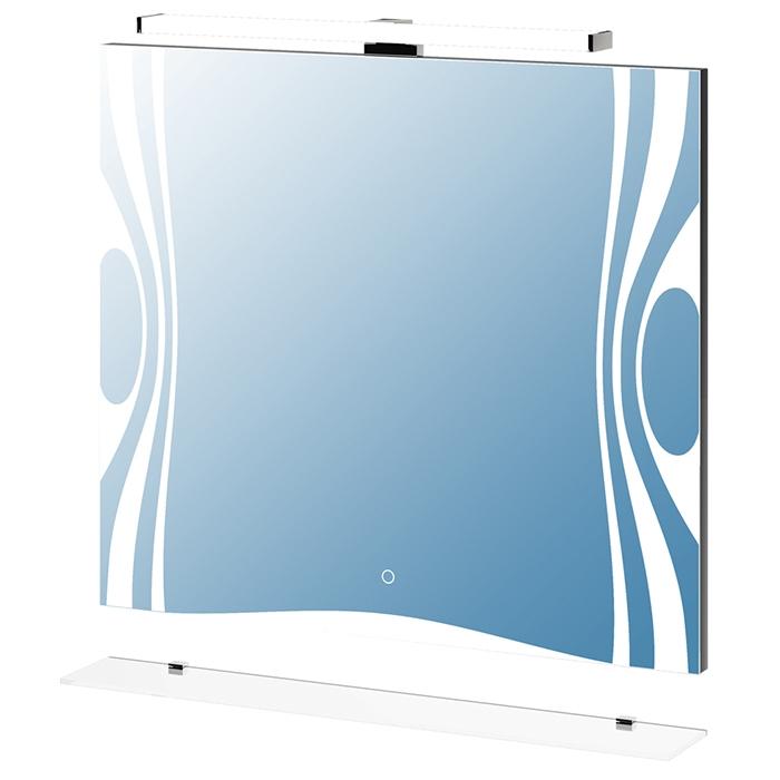 Зеркало Vigo Leo 80 с подсветкой С подсветкой зеркальный шкаф vigo kolombo 80 с подсветкой серый