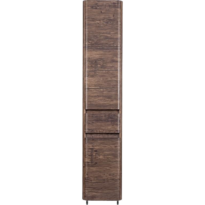 Шкаф пенал Style Line Атлантика Люкс Plus 35 ЛС-00000615 с бельевой корзиной Старое дерево шкаф пенал style line эко фьюжн лс 00000257