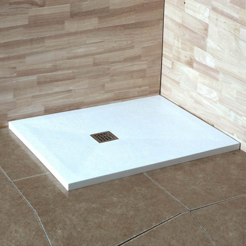 Душевой поддон из искусственного камня RGW STT ST-188W 80x180x2,5 Белый