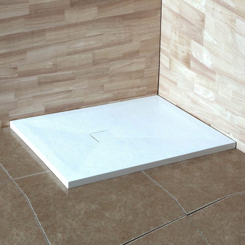 Душевой поддон из искусственного камня RGW STT ST-0108W 80x100x2,5 Белый
