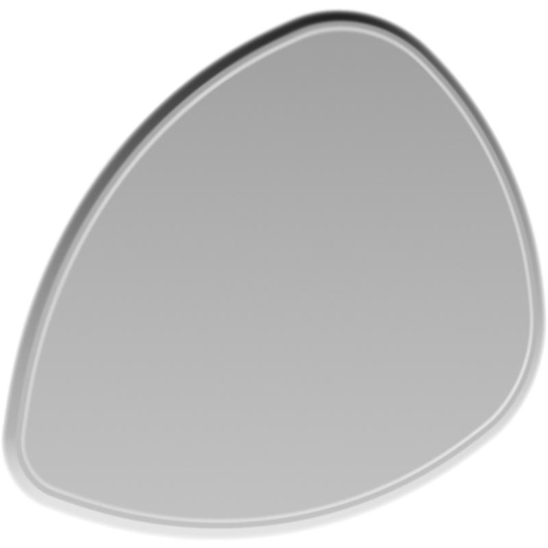Зеркало Aqwella Clarberg Stone 95 Stn.02.10 с подсветкой Белое