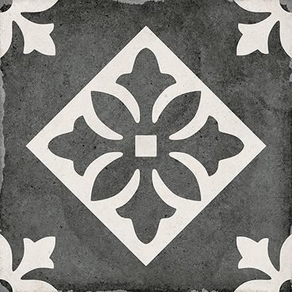 Керамический декор Equipe Art Nouveau Padua Black 20х20 см цена 2017