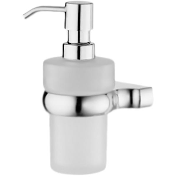 Berkel K-6899 ХромАксессуары для ванной<br><br>Стеклянный дозатор жидкого мыла WasserKRAFT Berkel K-6899 с настенным держателем. Округлые, плавные формы характеризуют коллекцию Berkel, создавая воздушную легкость в интерьере, комфорт, наслаждение и положительные эмоции.<br><br><br>Материал держателя и помпы: металл.<br>Покрытие: хромоникелевое.<br>Материал емкости: матовое стекло.<br>Уплотнительные пластиковые кольца.<br><br><br>В комплекте поставки:<br>дозатор жидкого мыла;<br>настенный держатель.<br><br>