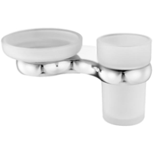 Berkel K-6826 ХромАксессуары для ванной<br><br>Стеклянные мыльница и стакан для зубных щеток Wasser Kraft Berkel K-6869 с настенным держателем. Округлые, плавные формы характеризуют коллекцию Berkel, создавая воздушную легкость в интерьере, комфорт, наслаждение и положительные эмоции.<br><br><br>Материал держателя: металл.<br>Покрытие: хромоникелевое.<br>Материал чаши мыльницы и стакана: матовое стекло.<br>Уплотнительные пластиковые кольца.<br><br><br>В комплекте поставки:<br>мыльница;<br>стакан;<br>настенный держатель.<br><br>