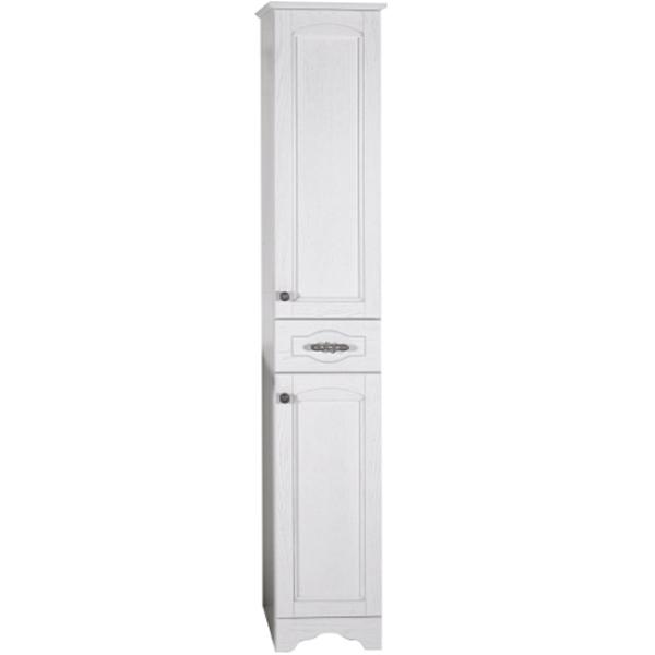 Шкаф пенал ASB-Woodline Римини Nuovo 30 Белый патина серебро