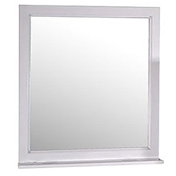 Зеркало ASB-Woodline Гранда 60 Белое c серебряной патиной фото