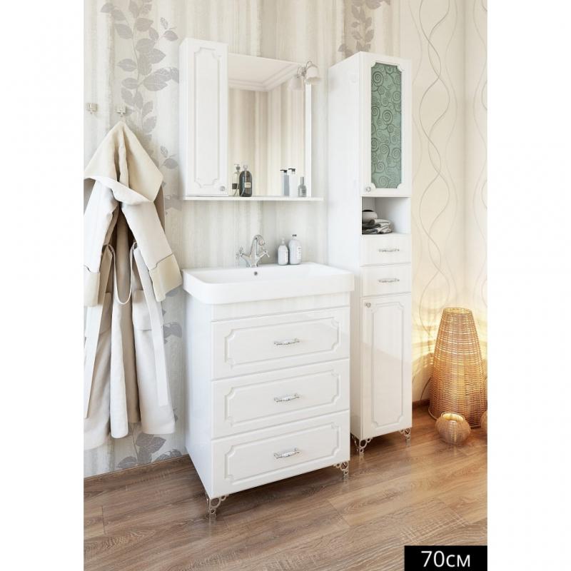 Зеркальный шкаф Sanflor Ксения 70 Н0000000117 Белый
