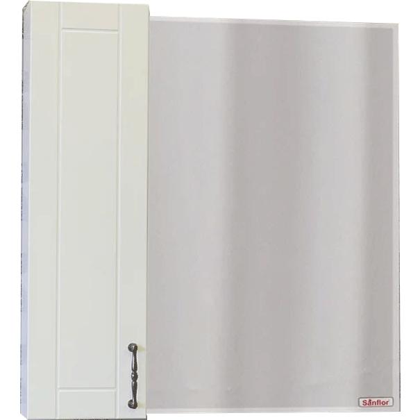 Зеркало со шкафом Sanflor Глория 85 L С000005758 Белое зеркало со шкафом sanflor глория 85 r с000005689 белое