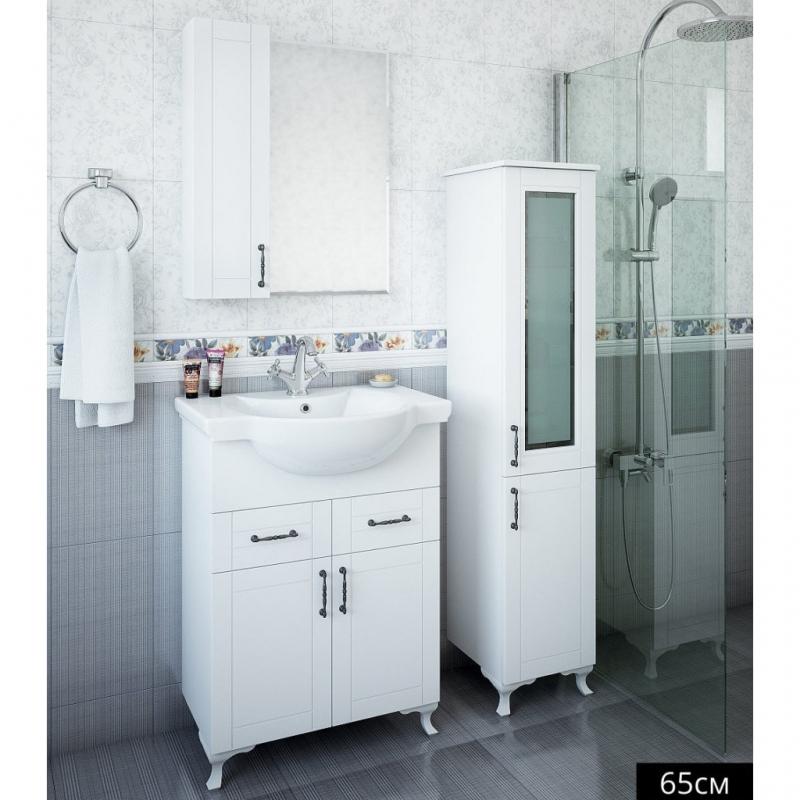 Зеркало со шкафом Sanflor Глория 65 R С000005688 Серое зеркало со шкафом sanflor глория 85 r с000005689 белое