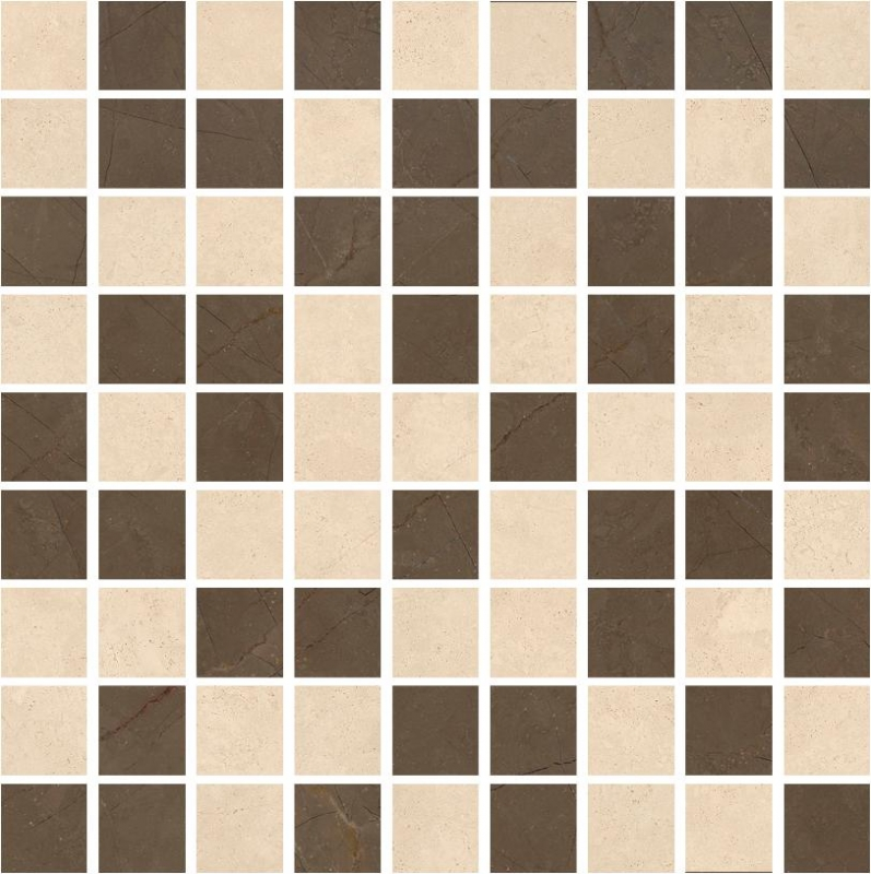 Мозаика Kerranova Crema Marfil Pulpis Marble Trend K-1002(1003)/MR(LR)/m01 30х30см мозаика kerranova canyon k 903 lr m01 30x30см