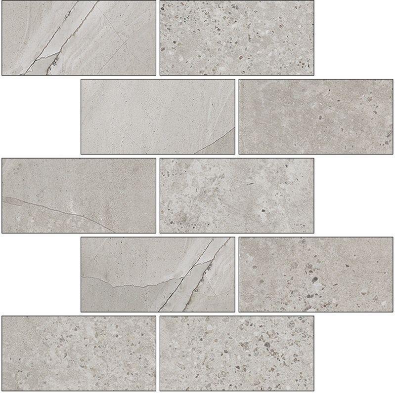Мозаика Kerranova Limestone Marble Trend K-1005/SR/m13 30,7х30,7см appella 711 1005