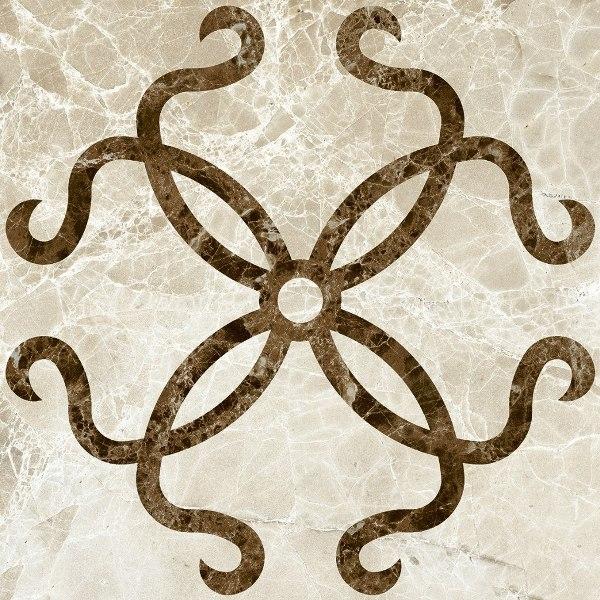Керамический декор Kerranova Eterna Бежевый K-40/LR/d03 60x60см стоимость