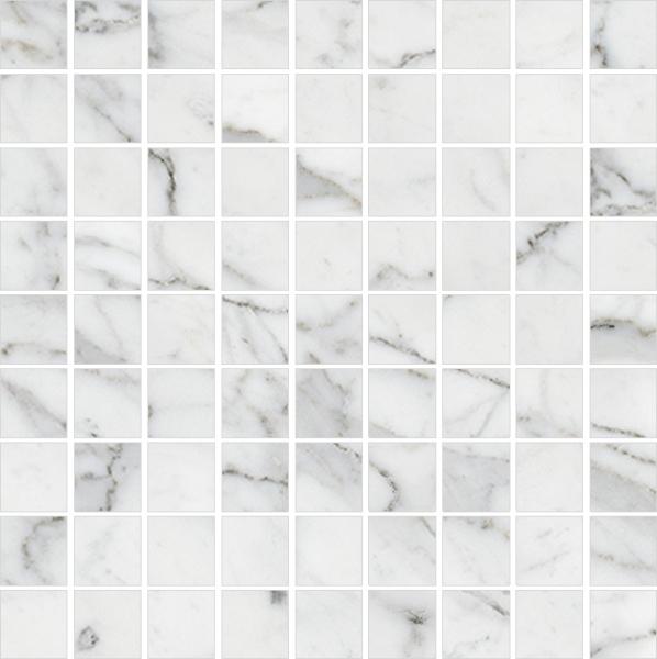 Мозаика Kerranova Marble Trend Carrara K-1000/MR/m01 30х30см