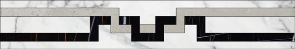 Бордюр Kerranova Marble Trend Carrara K-1000/MR/f01-cut 10х60см