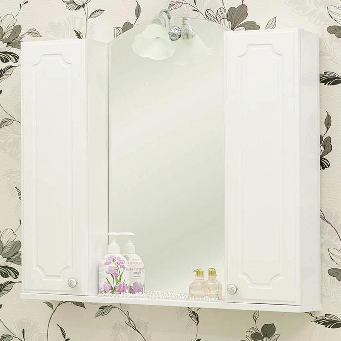 Зеркальный шкаф Sanflor Ксения 80 Н0000000119 Белый