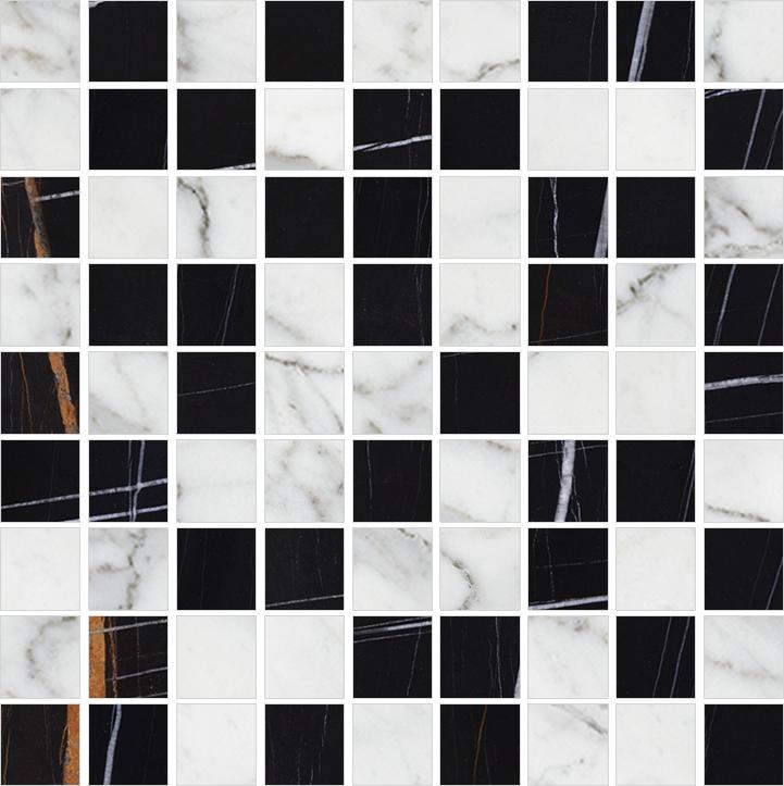 Мозаика Kerranova Nero Dorato Marble Trend Carrara K-1000(1004)/LR(CR)/m01 30х30см все цены