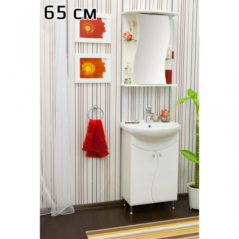 Зеркальный шкаф Sanflor Лина 65 L Н0000000584 Белый наволочка la redoute estavelle 65 x 65 см белый
