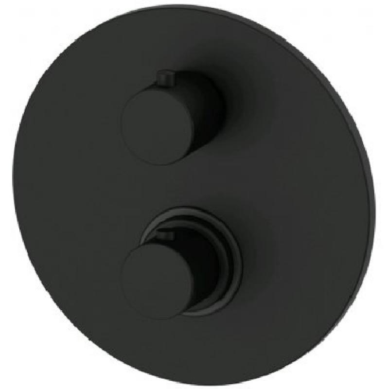 Смеситель для душа Paffoni Light LIQ018NO с термостатом Черный матовый