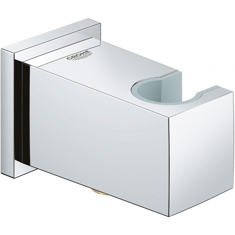 Фото - Шланговое подключение Grohe Euphoria Cube 26370000 с держателем ручного душа Хром шланговое подключение grohe euphoria cube 27704000 хром