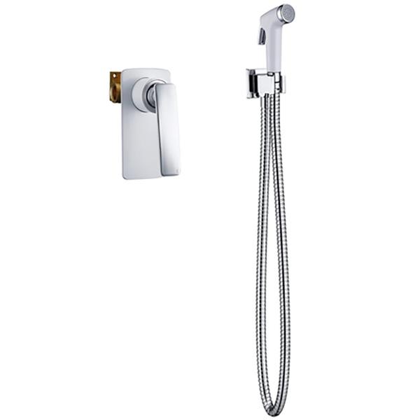 Фото - Гигиенический душ со смесителем Timo Helmi 4089/00-16SM Хром Белый смеситель для душа timo helmi с гигиенической лейкой черный 4089 03sm