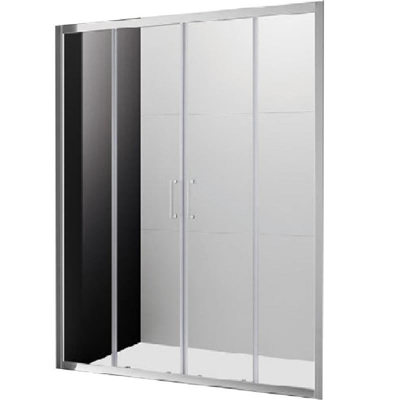 Душевая дверь в нишу Cezares Molveno BF-2 180 профиль Хром стекло прозрачное