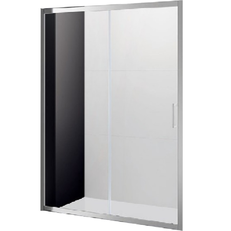 Душевая дверь в нишу Cezares Molveno BF-1 130 профиль Хром стекло матовое