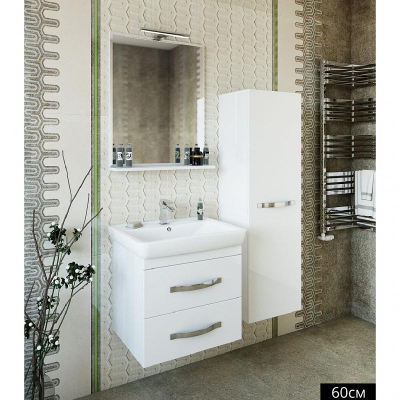 Шкаф пенал Sanflor Одри /Рио 40 R Н0000000097 Белый зеркало sanflor одри 80 белый h0000001157