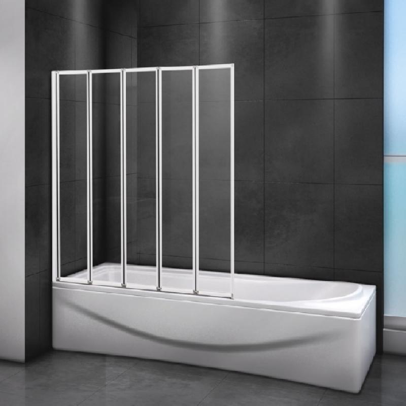 Шторка на ванну Cezares Relax V-5 120х140 профиль Белый стекло прозрачное RELAX-V-5-120/140-C-Bi