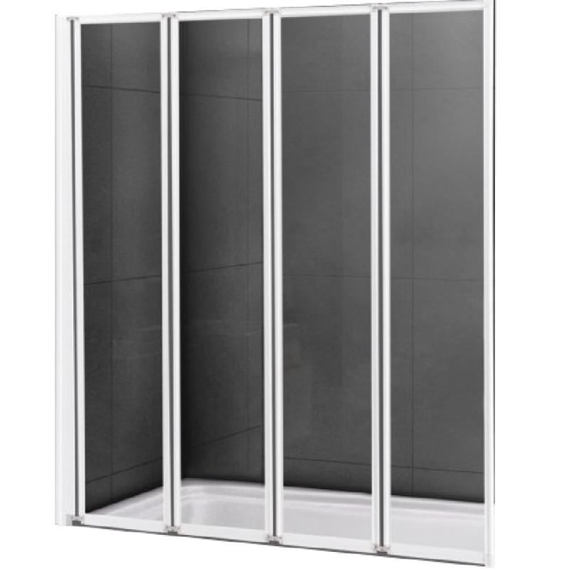Шторка на ванну Cezares Relax V-4 80х140 профиль Белый стекло рифленое R дверь эдем v 4 4 1l r