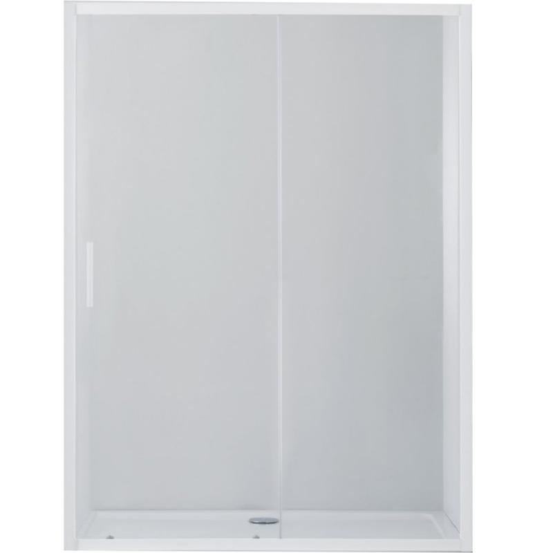 Душевая дверь в нишу Cezares Relax BF-1 120 профиль Белый стекло рифленое фото