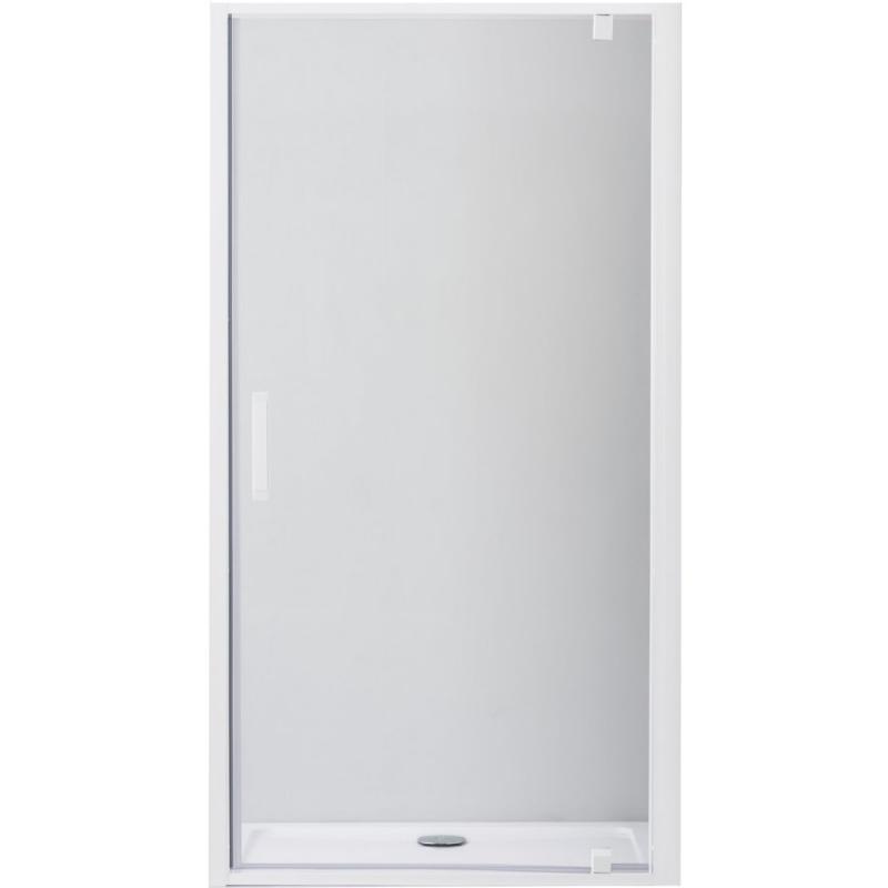 Душевая дверь в нишу Cezares Relax BA-1 80 профиль Белый стекло прозрачное