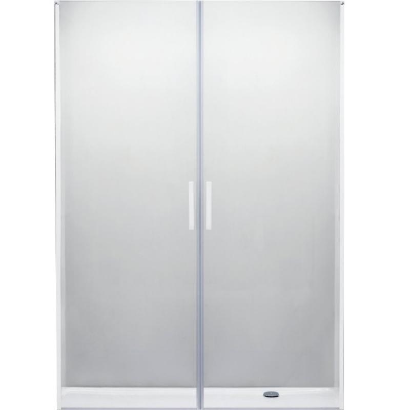 Душевая дверь в нишу Cezares Relax B-2 160 профиль Белый стекло прозрачное