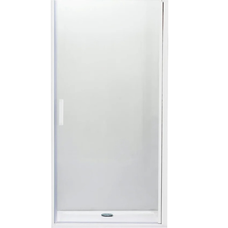 Душевая дверь в нишу Cezares Relax B-1 90 профиль Белый стекло рифленое L