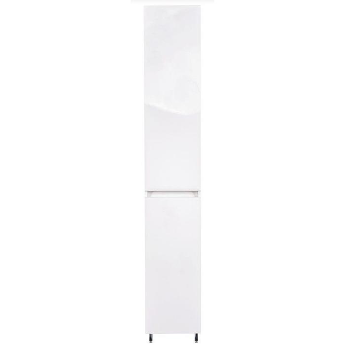 Шкаф пенал Style Line Даллас 30 Люкс с бельевой корзиной Белый шкаф пенал style line эко стандарт 54 с бельевой корзиной белый