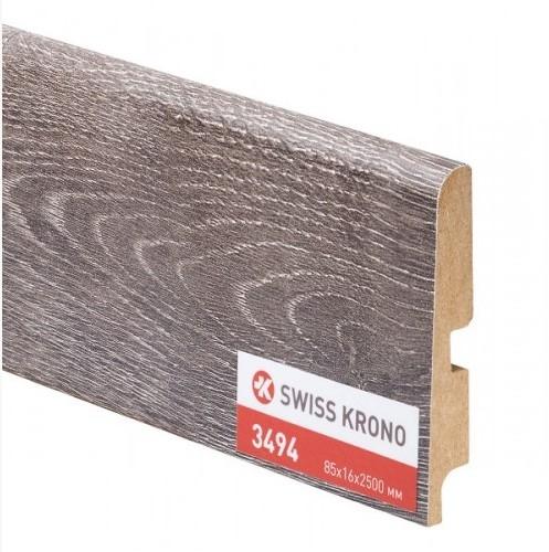 Плинтус Kronopol P85 Pepper Oak 3494 2500х85х16 мм