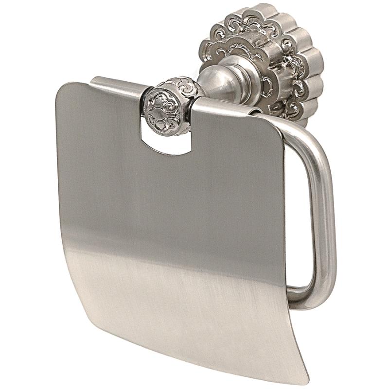 Держатель туалетной бумаги Milacio Villena MC.906.SL с крышкой Серебро