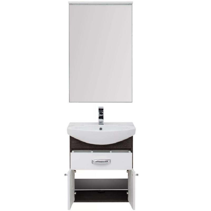 Комплект мебели для ванной Aquanet Грейс 60 198801 подвесной Дуб кантенбери мебель для ванной aquanet грейс 60 дуб сонома белый 2 дверцы