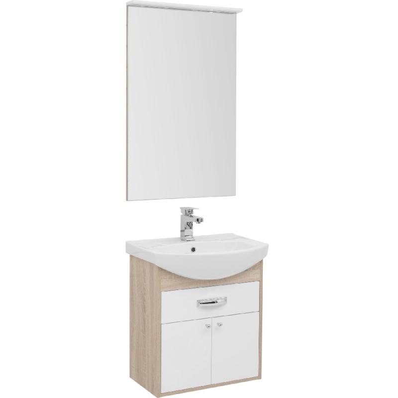 Комплект мебели для ванной Aquanet Грейс 60 198802 подвесной Дуб сонома мебель для ванной aquanet грейс 60 дуб сонома белый 2 дверцы