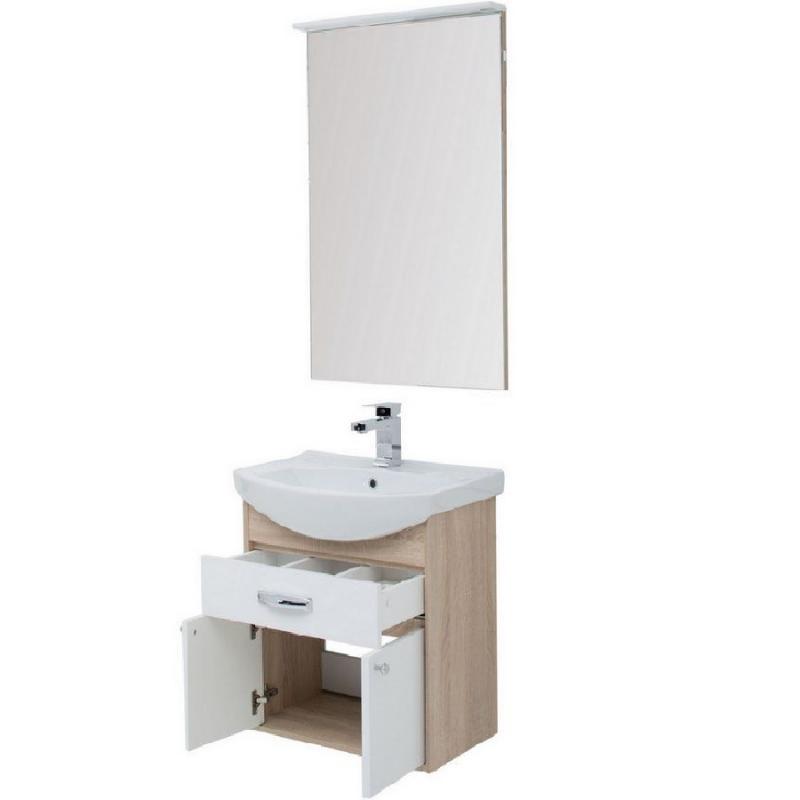 Комплект мебели для ванной Aquanet Грейс 65 198809 подвесной Дуб сонома мебель для ванной aquanet грейс 60 дуб сонома белый 2 дверцы