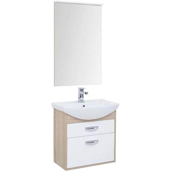 Комплект мебели для ванной Aquanet Грейс 65 198809 подвесной Дуб сонома