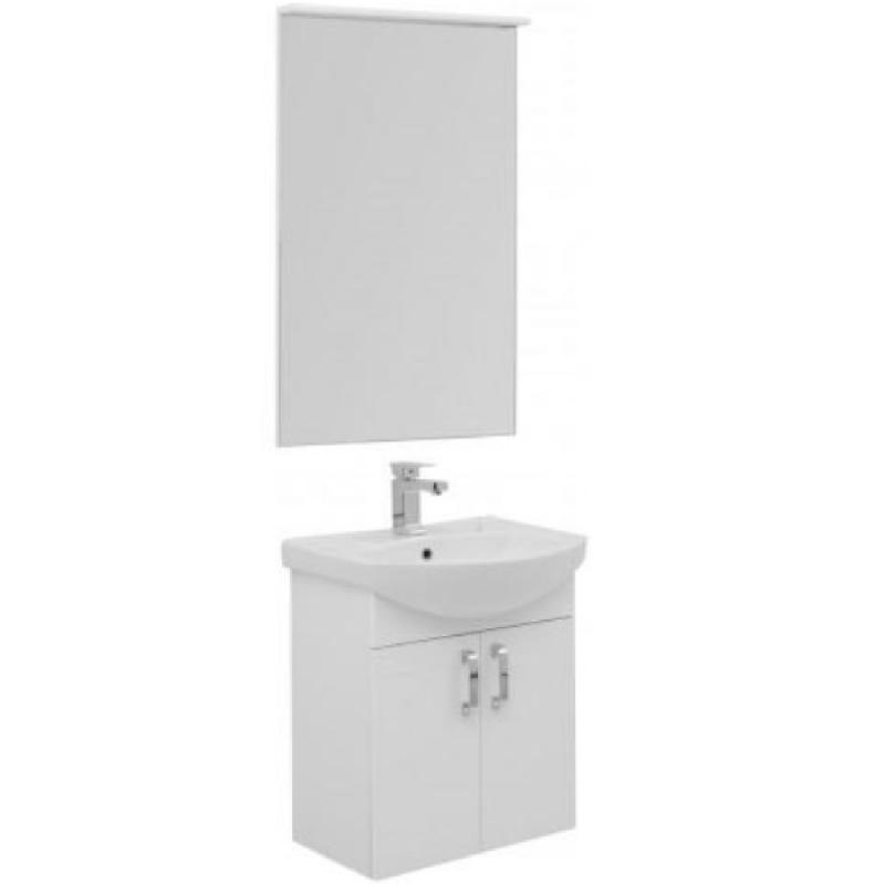 Комплект мебели для ванной Aquanet Ирис 60 198813 подвесной Белый раковина 60 5 см aquanet элеганс 60