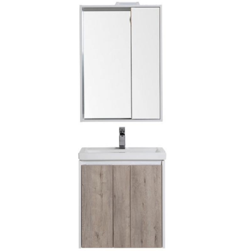 Фото - Комплект мебели для ванной Aquanet Клио 60 196487 подвесной Белый Дуб кантри комплект мебели для ванной aquanet йорк 60 203642 подвесной белый глянец