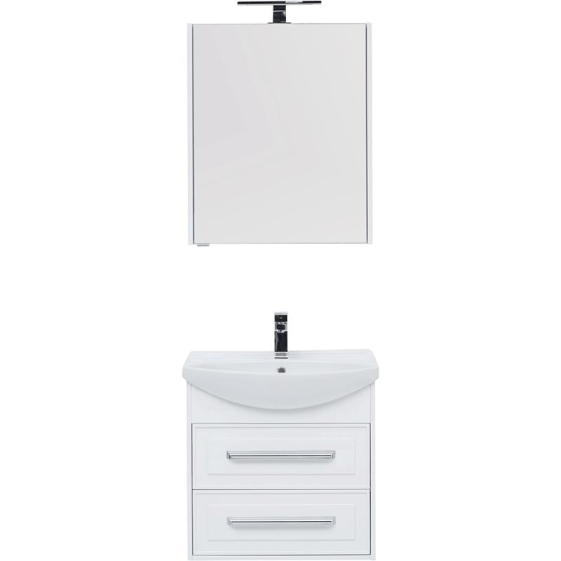 Фото - Комплект мебели для ванной Aquanet Остин 65 209013 подвесной Белый глянец комплект мебели для ванной aquanet йорк 60 203642 подвесной белый глянец